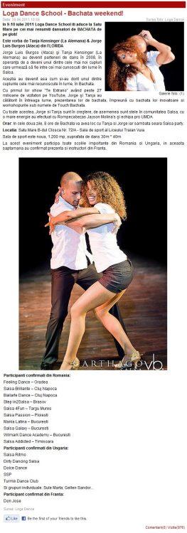 Loga Dance School – Bachata Weekend (portalsm.ro)
