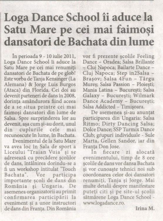 Loga Dance School ii aduce la Satu Mare pe cei mai faimosi dansatori de Bachata din lume (Informatia Zilei)
