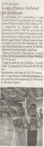 Campionatul National de clase - Loga Dance School pe podiu (Gazeta de Nord Vest)