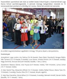 Erdodon tancoltak a Loga Dance School sportoloi (frissujsag.ro)