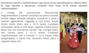Besztercen a Loga Dance School sporttancosai(frissujsag.ro)