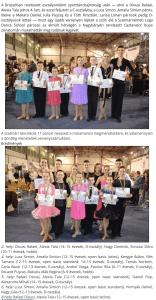A brassoi bajnoksag utan Nagybanyan remekeltek a Loga Dance School tancosai(frissujsag.ro)
