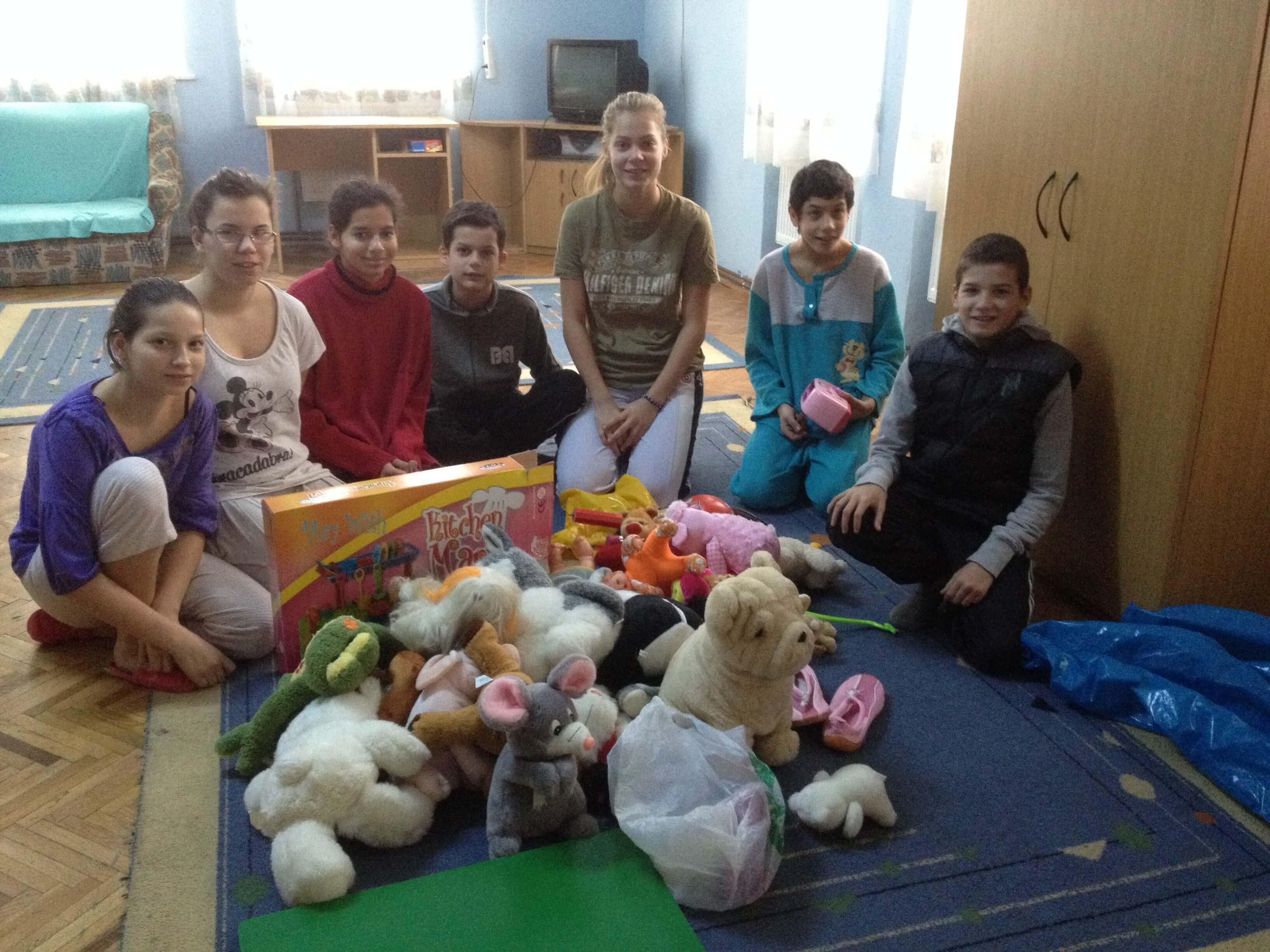 In vizita la o casa de copii