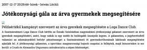 Jotekonysagi gala az arva gyermekek megsegitesere (szatmar.ro)