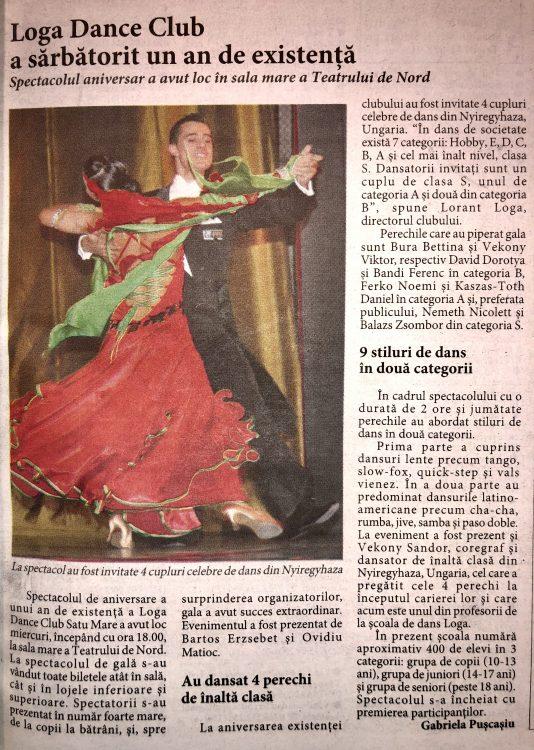 Loga Dance Club a sarbatorit un an de existenta (Informatia Zilei)
