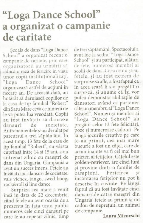Loga Dance School a organizat o campanie de caritate (Informatia Zilei)