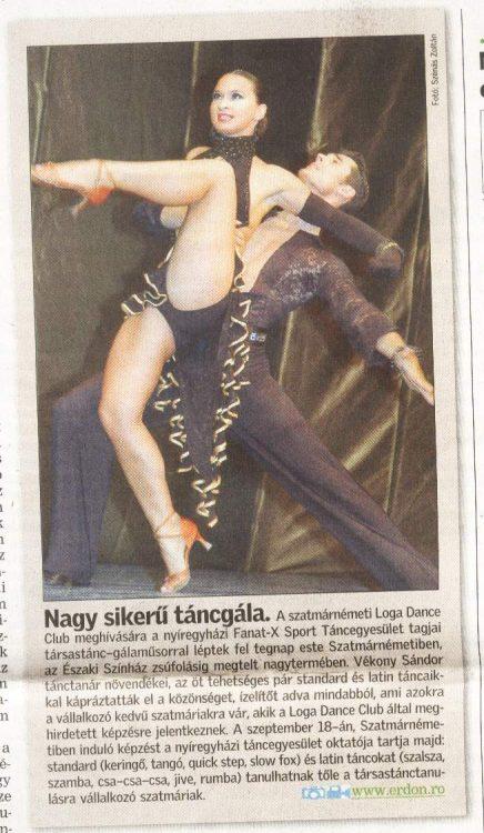 Nagy sikeru tancgala (Szatmari Friss Ujsag)