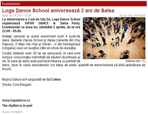 Loga Dance School aniverseaza 2 ani de Salsa (portalsm.ro)