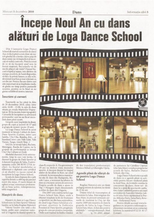 Incepe Noul An cu dans, alaturi de Loga Dance School (Informatia Zilei)