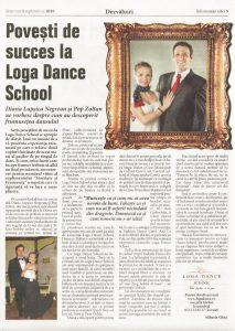 Povesti de succes la Loga Dance School -Diana Lupsica Negrean si Pop Zoltan (Informatia Zilei)