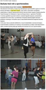 Bachata-buli volt a sportteremben (szatmar.ro)