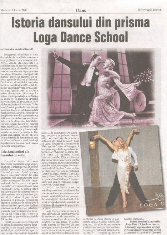 Istoria dansului din prisma Loga Dance School (Informatia Zilei)