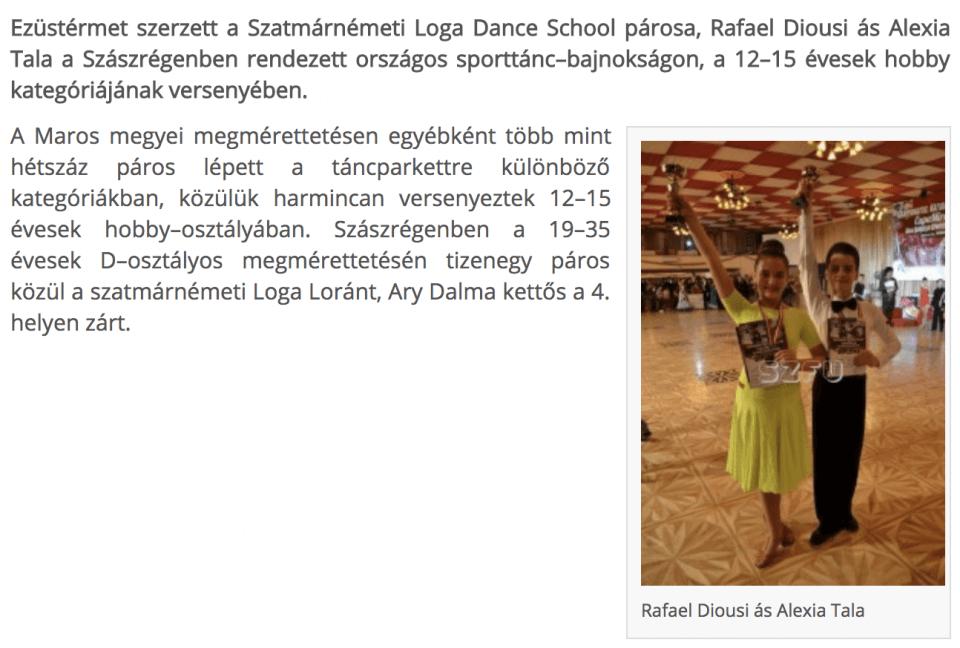 Bajnoki ezustermes sporttanc-iskolasok(Friss Ujsag)