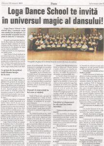 Loga Dance School te invita in universul magic al dansului! (Informatia Zilei)