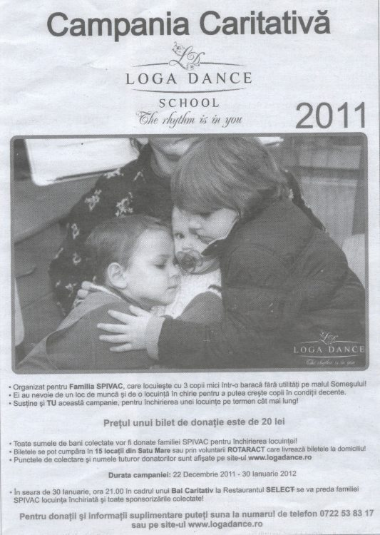 Campania Caritabila Loga Dance School 2011 (Informatia Zilei)