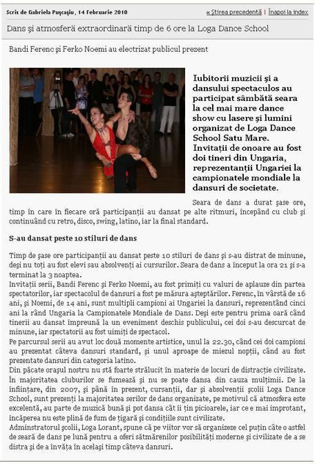 Dans si atmosfera extraordinara timp de 6 ore la Loga Dance School (informatia-zilei.ro)