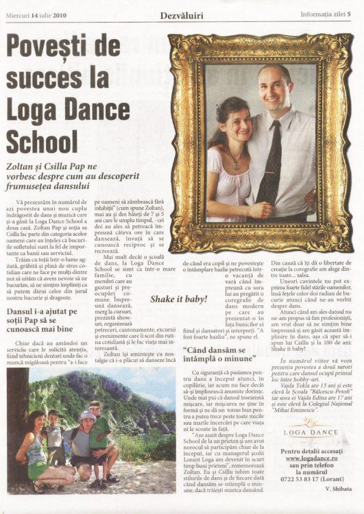 Povesti de succes la Loga Dance School -Zoltan si Csilla Pap (Informatia Zilei)