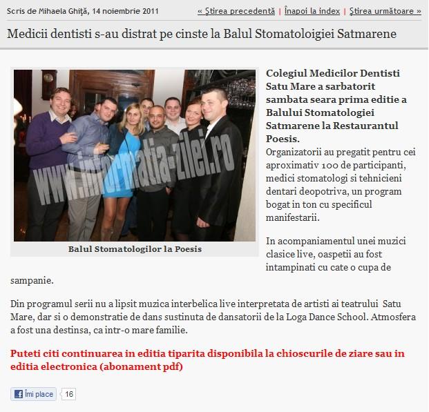 Medicii dentist s-au distrat pe cinste la Balul Stomatologiei Satmarene (informatia-zilei.ro)