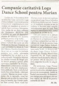 Campanie caritativa Loga Dance school pentru Marian (Informatia Zilei)
