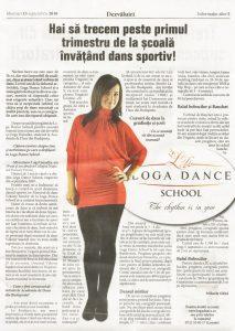 Loga Dance School te invita la o ora de dans gratuita (Informatia Zilei)