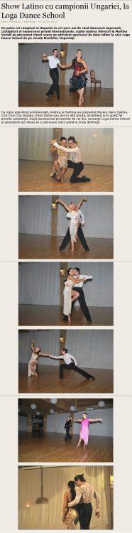 Show Latino cu campionii Ungariei, la Loga Dance School (satumareonline.ro)