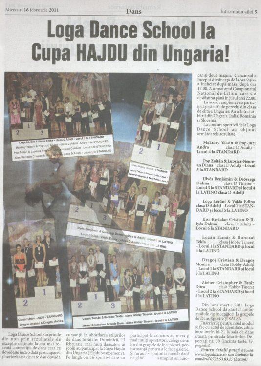 Loga Dance School la Cupa Hajdu din Ungaria! (Informatia Zilei)
