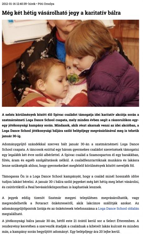 Meg ket hetig vasarolhato jegy a karitativ balra (szatmar.ro)