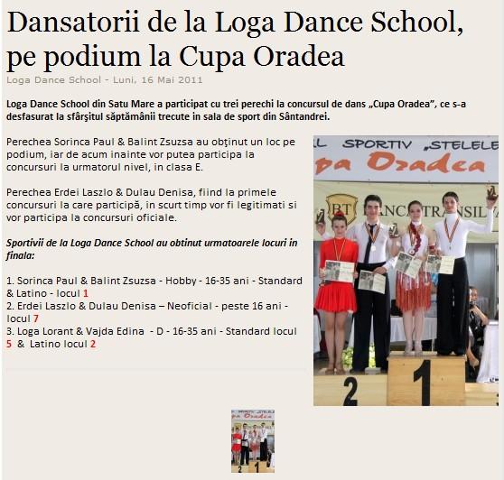 Dansatorii de la Loga Dance School, pe podium la Cupa Oradea (informatia-zilei.ro)
