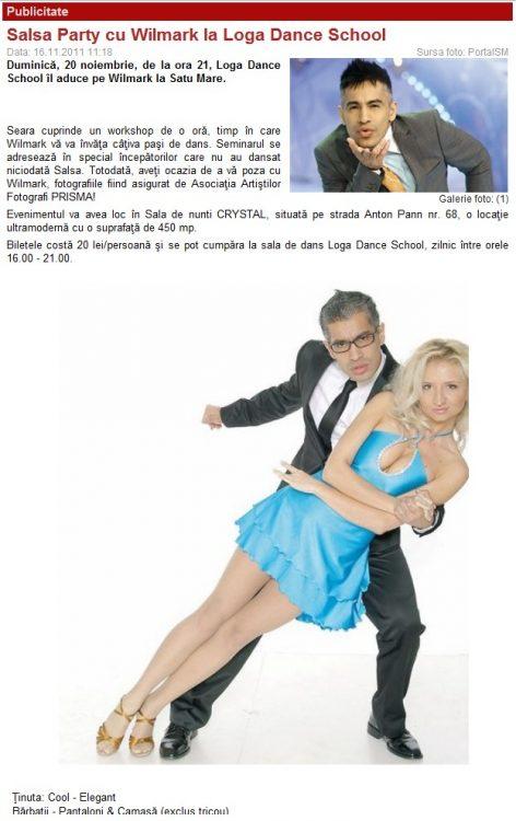 Salsa Party cu Wilmark la Loga Dance School (portalsm.ro)