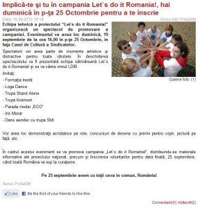 Implica-te si tu in campania Let's do it, Romania! (portalsm.ro)