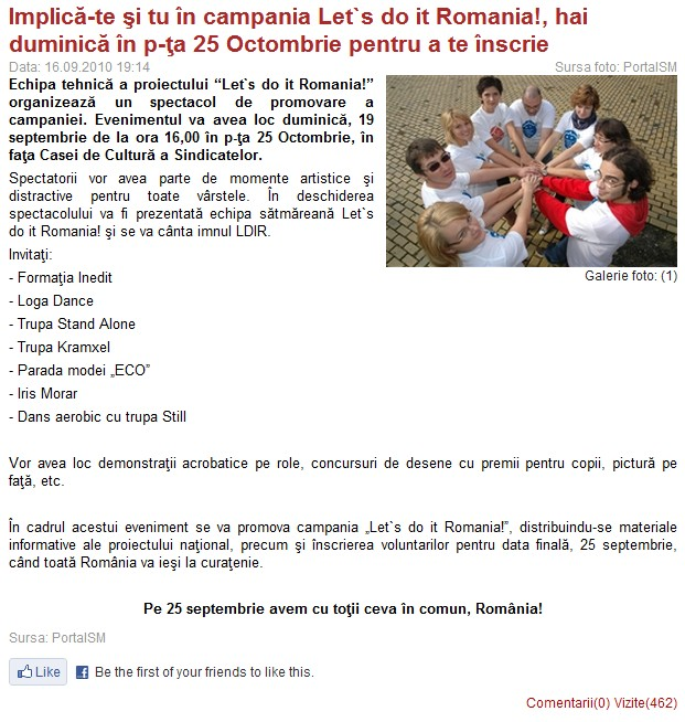 Implica-te si tu in campania Let's do it, Romania! (portalsm.ro)