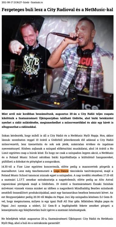 Fergeteges buli lesz a City Radioval es a NetMusic-kal (szatmar.ro)
