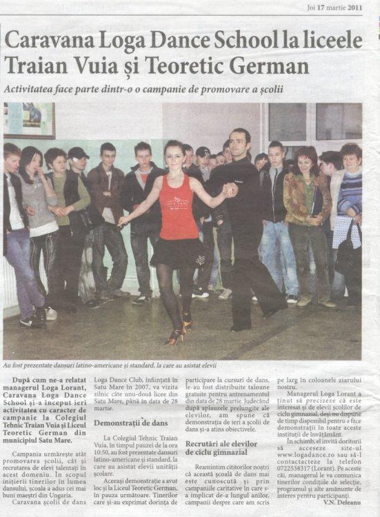 Caravana Loga Dance School la liceele Traian Vuia si Teoretic German (Informatia Zilei)