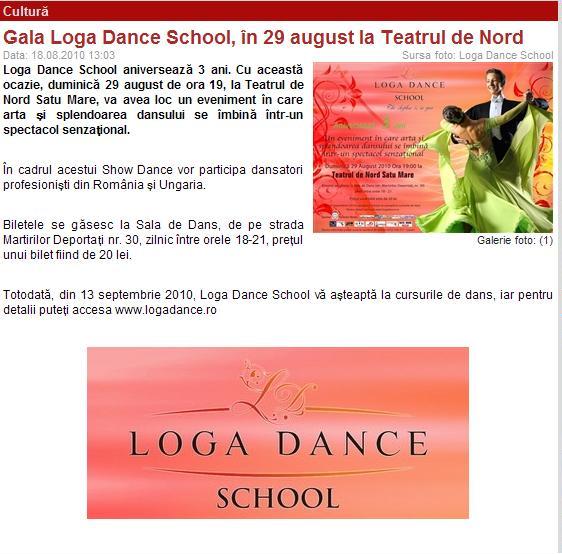 Gala Loga Dance School, in 29 august, la Teatrul de Nord (portalsm.ro)