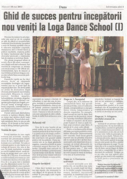 Ghid de succes pentru incepatorii in artea dansului la Loga Dance School (Informatia Zilei)