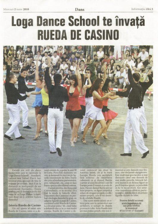 Loga Dance School te invata Rueda de Casino (Informatia Zilei)
