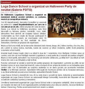 Loga Dance School a organizat un Halloween Party de neuitat (portalsm.ro)