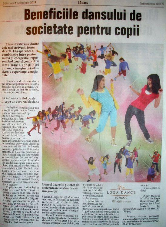Beneficiile dansului de societate pentru copii (Informatia Zilei)