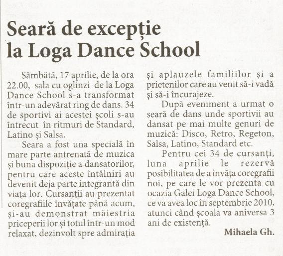Seara de exceptie la Loga Dance School (Informatia Zilei)