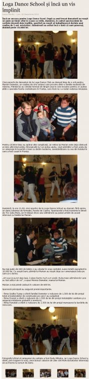 Loga Dance School si inca un vis implinit (satumareonline.ro)