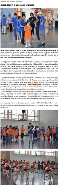 Elkezdodott a Specialis Olimpia (szatmar.ro)