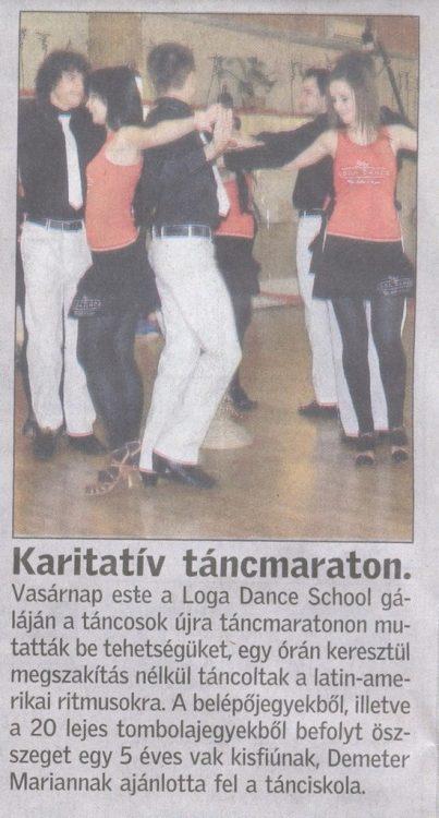 Karitativ tancmaraton (Friss Ujsag)