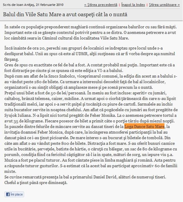 Balul din Viile Satu Mare a avut oaspeti cat la o nunta (informatia-zilei.ro)