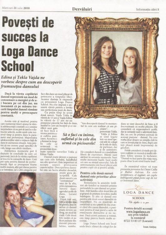 Povesti de succes la Loga Dance School - Edina si Tekla Vajda (Informatia Zilei)