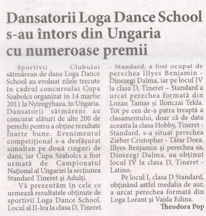 Dansatorii Loga Dance School s-au intors din Ungaria cu numeroase premii (Informatia Zilei)