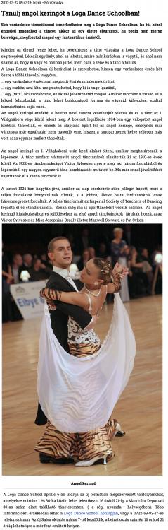 Tanulj angol keringot a Loga Dance Schoolban! (szatmar.ro)
