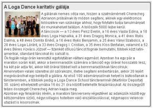 A Loga Dance School karitativ galaja (Magyar Hirlap)