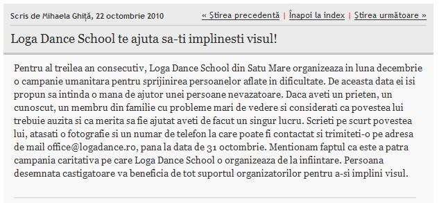 Loga Dance School te ajuta sa-ti implinesti visul! (informatia-zilei.ro)
