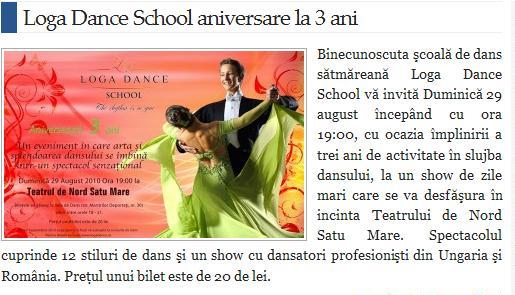 Loga Dance School aniversare la 3 ani (satmareanul.net)