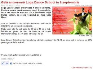 Gala aniversara Loga Dance School in 9 septembrie (portalsm.ro)